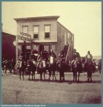 Ute Chief Ouray in Montrose -- 1875 -- 4th from left -- thumbnail