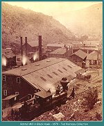 Early view of the Bobtail Mill located in Black Hawk, Colorado -- 1879  -- (Image 00130) (122k)