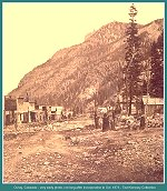 Ouray, Colorado -- very early photo, not long after incorporation in Oct. 1876