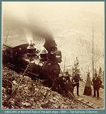 Denver and Rio Grande locomotive #41 at Marshall Pass on the west slope - 1884 - (Image 00148) (98k)