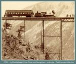 Colorado Central Railroad - Highline between Silver Plume and Georgetown - on bridge (Image 00160) (75k)
