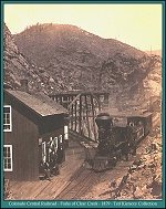 Colorado Central Railroad - Forks of Clear Creek - 1879