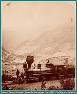 Colorado Central Railroad -  Above the Georgetown Loop - 1882 (Image 00181) (143k)
