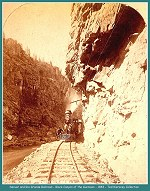 Denver and Rio Grande -  Railroad Black Canyon of the Gunnison - 1883 (Image 00184) (201k)
