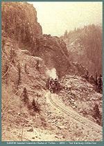 Denver and Rio Grande Western headed towards Chama at Toltec -- 1890