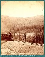 Denver & Rio Grande - Locomotive #41 on Marshall Pass -1884 - (Image 00214) (140k)
