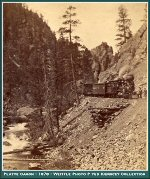 Denver South Park and Pacific - Near Deer Creek - Platte Canyon - 1878 -  -- (Image 00250) (212k)