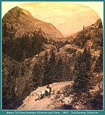 Mears Toll Road, between Silverton and Ouray - 1892 -(175k)
