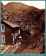 Colorado Central Railroad - Forks of Clear Creek - 1878 (Image 00271) (233k)