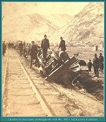 Derailed in a hurricane at Georgetown - Feb 4th, 1885 - 11705 Bytes