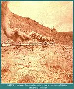 Between Chama and Antonito - Rare action shot of double header east of Chama headed towards Durango -- 1882- Image #54 (73k)