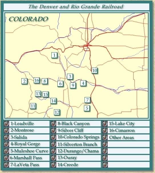 Clickable image map of the Denver and Rio Grande Railroad